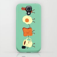 Galaxy S4 Cases featuring Let's All Go And Have Breakfast by Teo Zirinis