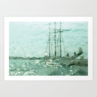 so we beat on, boats against the current... Art Print
