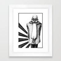 ASS FACE Framed Art Print