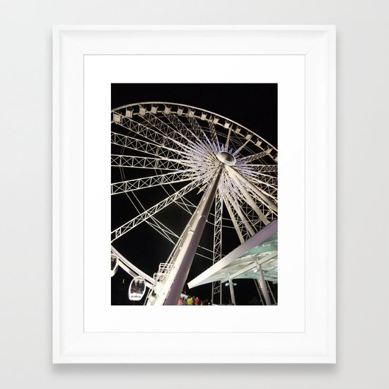 Wheeling Around Framed Art Print