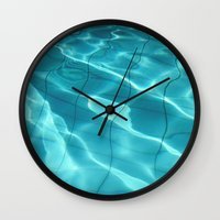 Water / Swimming Pool (Water Abstract) Wall Clock