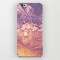 Gold violet pattern iPhone & iPod Skin