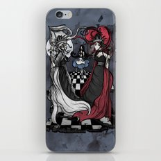 Alice and her Queens: The Checkered Board iPhone & iPod Skin