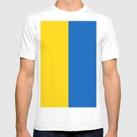 Flag Of Ukraine Mens Fitted Tee White SMALL