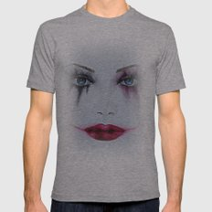 Harley Quinn Mens Fitted Tee Athletic Grey SMALL