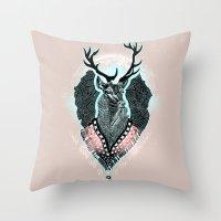 Wind:::Deer Throw Pillow