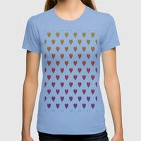 POP HeART Womens Fitted Tee Athletic Blue SMALL