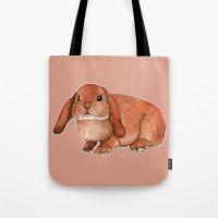 Red rabbit ram Tote Bag