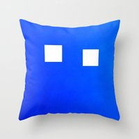 Minimalism Electric Blue Throw Pillow