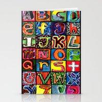 alphabet Stationery Cards featuring Alphabet by C Z A V E L L E