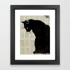 CAT BLACK Framed Art Print