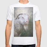 Old Goat! Mens Fitted Tee Ash Grey SMALL