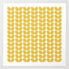 leaves - yellow Art Print