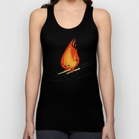 Snow And Fire Unisex Tank Top