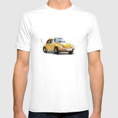VW Beetle SMALL Mens Fitted Tee White