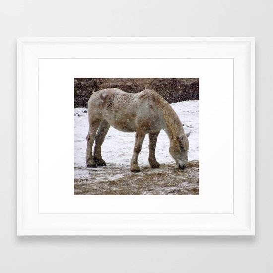 Workhorse Framed Art Print