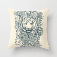 Tiger Tangle Throw Pillow