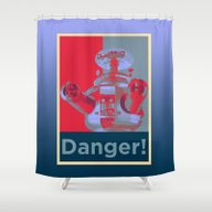 Danger!!!! Shower Curtain