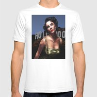 Liz Taylor Mens Fitted Tee White SMALL