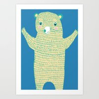 Surprise Bear Art Print