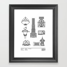 NNY Framed Art Print