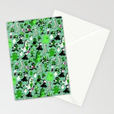 Monster March (Green) Stationery Cards
