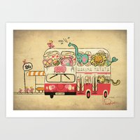 Hakuna Matata, The Childhood Bus Art Print
