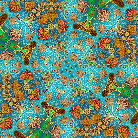 Indian Floral Art Print