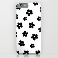iPhone & iPod Case featuring Flowers Black and White by Sian Roberts