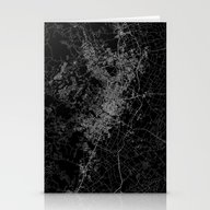 Austin Map Texas Stationery Cards