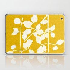 white branch on golden tone Laptop & iPad Skin