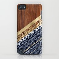 Navy & Gold Tribal On Wo… iPod touch Slim Case