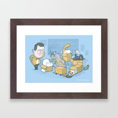 Schroedinger's cats are doing it wrong Framed Art Print