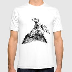 scyther dreaming about flight... White SMALL Mens Fitted Tee
