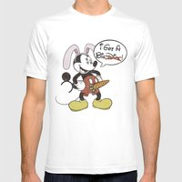Bunny Mickey Mens Fitted Tee White SMALL