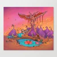 My wise friend and I Canvas Print