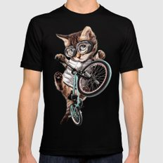 BMX CAT Black Mens Fitted Tee SMALL