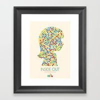 Inside Out Minimal Poste… Framed Art Print