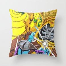 The Wizard 70's Throw Pillow