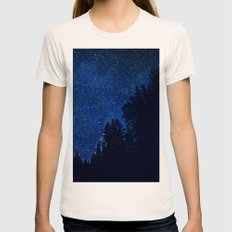 Flirting Stars Womens Fitted Tee Natural SMALL