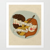Music Is All Around Art Print