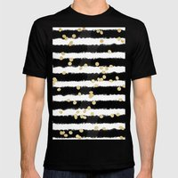 Modern Black Watercolor … Mens Fitted Tee Black SMALL