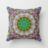 Concentric Colors Abstra… Throw Pillow