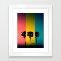 Vintage Palm Tree Framed Art Print