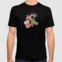 I Am Crafty Mens Fitted Tee Black SMALL