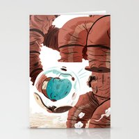 Space Brontosaurus  Stationery Cards
