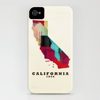 iPhone Cases featuring California state map modern by bri.buckley