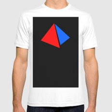 PYRAMID Mens Fitted Tee White SMALL