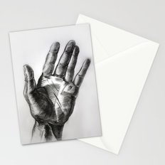 hand drawing hand Stationery Cards