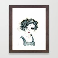 Anxiety. Framed Art Print